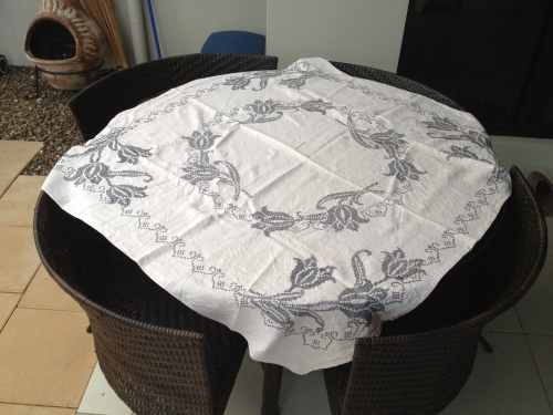 Grandma Angelos' table cloth