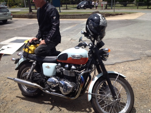 Graeme's sweet, sweet 2009, Bonneville 50th special edition. 1 of 650 made