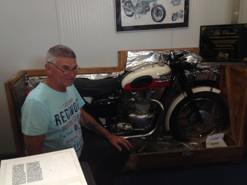 Graeme with a, still in the crate, 67 bonnie